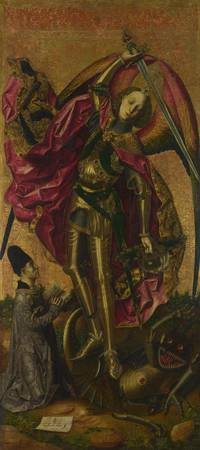 Bartolomé Bermejo - Saint Michael Triumphs over th