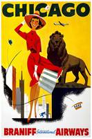 Chicago Braniff Travel Poster