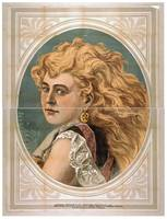 [Bust view of woman with long, blond, free-flowing