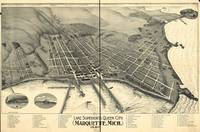 Map--Michigan--Marquette. 1897