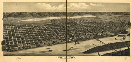 Map--Minnesota--Winona. 1889