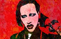 Marilyn Manson | Splatter Series | Pop Art
