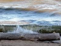 Waves Rolling Onto the Beach
