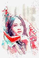 A lady from  Indonesia watercolor by Ahmet Asar