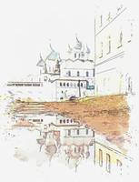 Church Rostov, Russia -  watercolor by Adam Asar