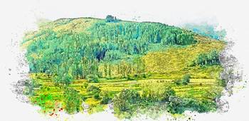 Kackars Mountains Landscape in Turkey 3 watercolor