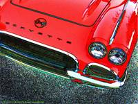 1962 Chevrolet Corvette Front - Red