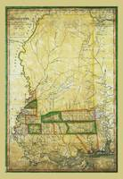 Map of Mississippi by John Melish (1820)