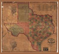 Pressler's Map of the State of Texas (1862)