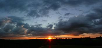 Tennessee Sunset Panorama