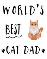 Worlds Best Cat Dad Orange Tabby