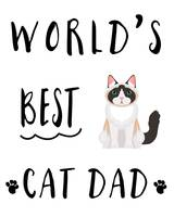 Worlds Best Cat Dad Black & White