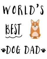 World's Best Dog Dad Corgi