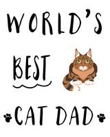 Worlds Best Cat Dad Maine Coon