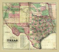Colton's Map of Texas (1872)