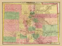 Colton's Sectional Map of Colorado (1878)