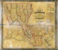 La Tourrette's Map of Louisiana (1848)