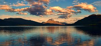Dusk At Loch Maree-Scotland