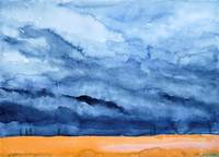 Stormy Sky Over Golden Field