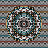 Wavy patterns mandala