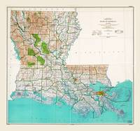 State of Louisiana Map (1966)