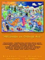 Poster, Halloween Eve on Orange Ave.