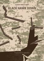 No1076 My Black Hawk Down minimal movie poster