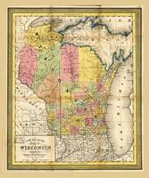 State of Wisconsin Map (1852)