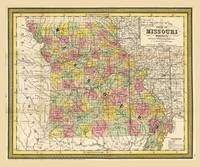 State of Missouri Map (1852)