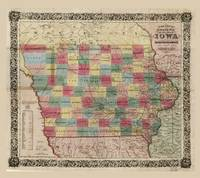 Colton's township map of the State of Iowa (1851)