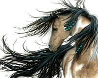 Turquoise Feathers Horse