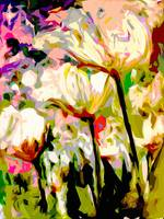 Abstract TULIPS Modern Floral Decor