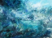 _Abstract ocean waves