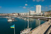 Portuguese city and marina