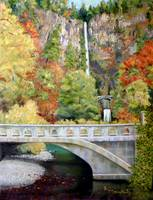 Multmonah Falls Oil Painting