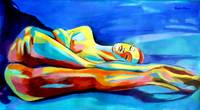 WOMANLY FIGURE PAINTING_ABSTRACT NUDE FEMALE ARTWO