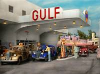 Gas Station - The great american road trip 1939