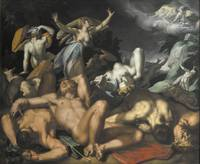 Abraham Bloemaert~Apollo and Diana Punishing Niobe