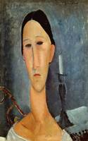 Amedeo Modigliani~Hanka Zborowska with a Candlesti