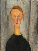 Amedeo Modigliani~Girl with Blue Eyes