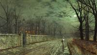 A Moonlit Evening Atkinson Grimshaw