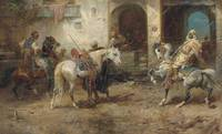 Adolf Schreyer - Arabian Horsemen