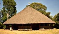 Traditional Christian church in Gorgora, Ethiopia