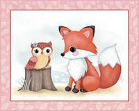 Little Woodland Friends - Owl and Fox