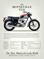 The Bonneville T120 Vintage Advert 1962