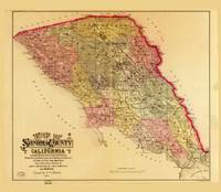 Map of Sonoma County, California (1884)