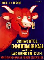 Laughing Cow Vintage Poster