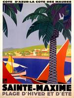 Sainte-Maxime, France Vintage Travel Poster