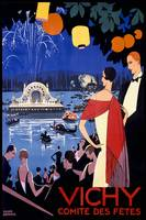 Vichy Vintage Travel Poster