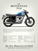 The Bonneville T120 Vintage Advert 1965
